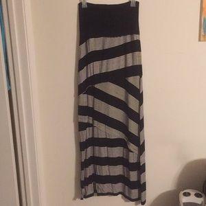 Maxi skirt/strapless dress
